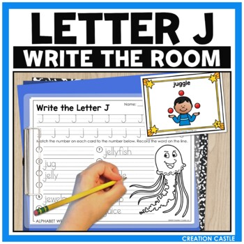 Alphabet Write the Room - Letter J