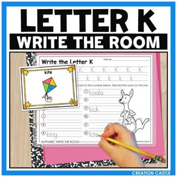 Alphabet Write the Room - Letter K