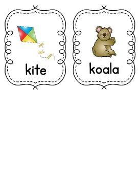 Write the Room - Letter K Words