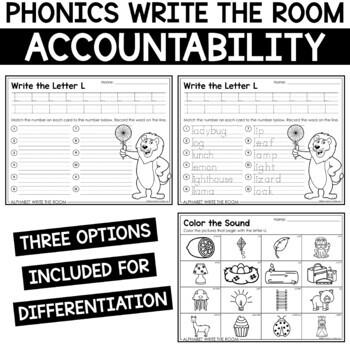Alphabet Write the Room - Letter L