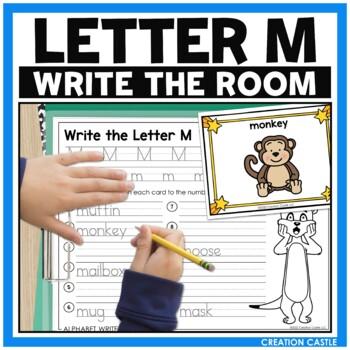 Alpahbet Write the Room - Letter M