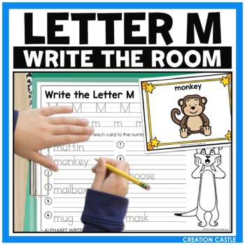 Alpahbet Write the Room - Letter M