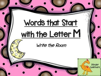 Write the Room Letter M