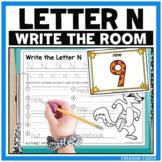 Alphabet Write the Room - Letter N