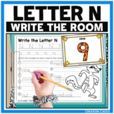 Alphabet Write the Room - Letter N