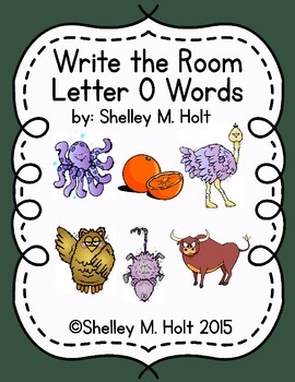 Write the Room - Letter O Words