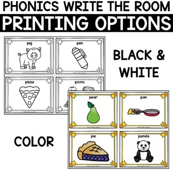 Alphabet Write the Room - Letter P
