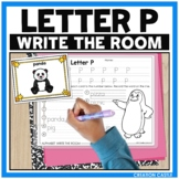 Alphabet Write the Room - Letter P