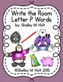 Write the Room - Letter P Words