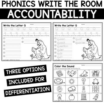 Alphabet Write the Room - Letter Q Mini Set