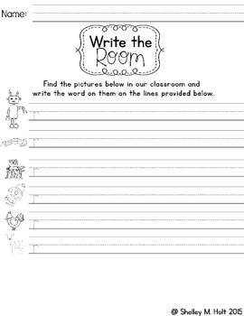 Write the Room - Letter R Words