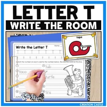 Alphabet Write the Room - Letter T