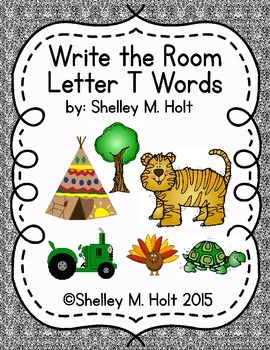 Write the Room - Letter T Words