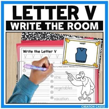 Alphabet Write the Room - Letter V