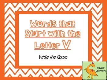 Write the Room Letter V
