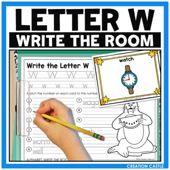 Alphabet Write the Room - Letter W