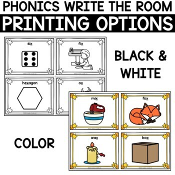 Alphabet Write the Room - Letter X