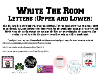 Write the Room- Letters