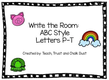 Write the Room Letters P-T
