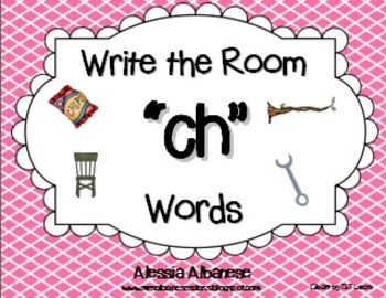 """Write the Room Literacy Center - """"CH"""" words"""