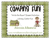 Write the Room Literacy Center - Camping Theme