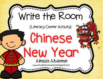 Write the Room Literacy Center - Chinese New Year