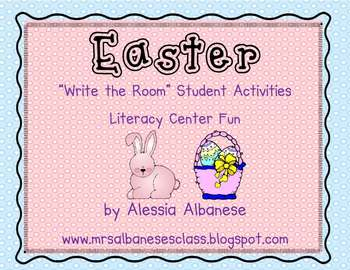 Write the Room Literacy Center - Easter Theme