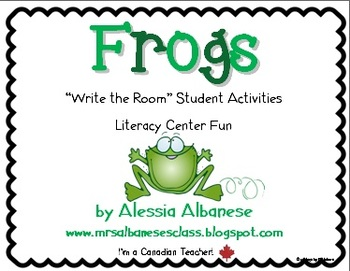 Write the Room Literacy Center - Frogs