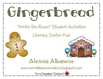 Write the Room Literacy Center - Gingerbread
