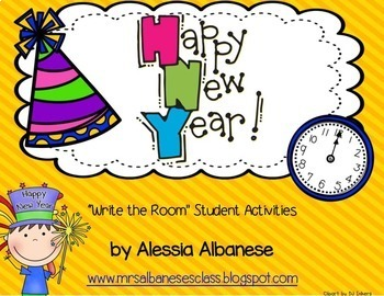 Write the Room Literacy Center - Happy New Year