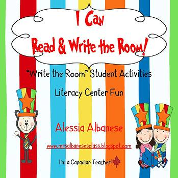 Write the Room Literacy Center - I Can Read and Write the Room (Whimsical Theme)