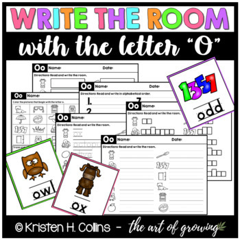 Write the Room Literacy Center - Letter O (Version 2.0)