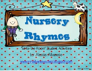 Write the Room Literacy Center - Nursery Rhymes