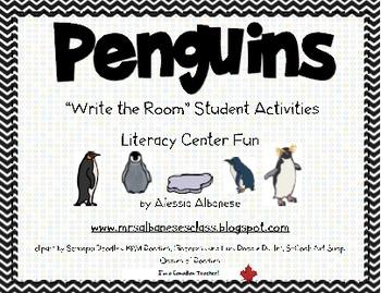 Write the Room Literacy Center - Penguins
