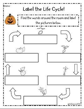 Write the Room Literacy Center - Pumpkins