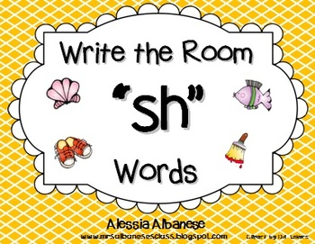 "Write the Room Literacy Center - ""SH"" words"