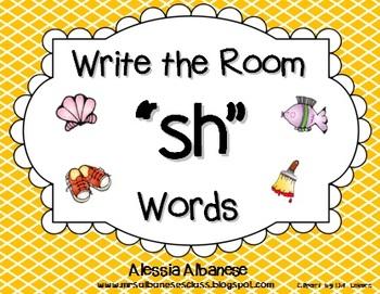 "Write the Room Literacy Center - ""SH"" words"