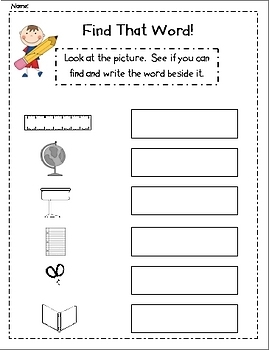 Write the Room Literacy Center Student Activities - Back to School!