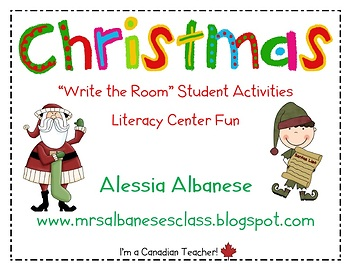 Write the Room Literacy Center Student Activities - Christmas Theme