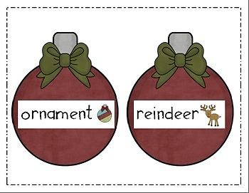 Write the Room Literacy Center - Christmas