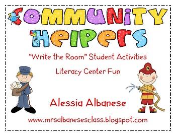 Write the Room Literacy Center Student Activities - Commun