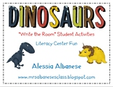 Write the Room Literacy Center Student Activities - Dinosaurs
