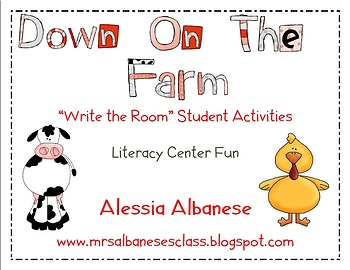 Write the Room Literacy Center Student Activities - Farm Theme
