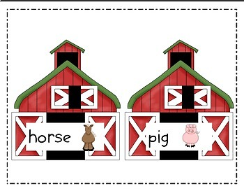 Write the Room Literacy Center Student Activities - Farm Theme