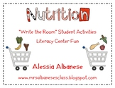 Write the Room Literacy Center - Nutrition