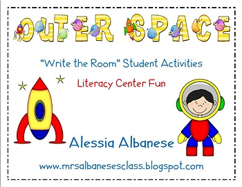 Write the Room Literacy Center Student Activities - Outer Space Theme