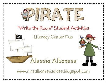 Write the Room Literacy Center Student Activities - Pirate Theme