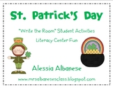 Write the Room Literacy Center Student Activities - St. Patrick's Day