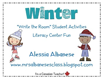 Write the Room Literacy Center Student Activities - Winter Theme