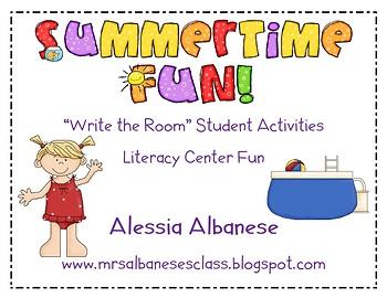Write the Room Literacy Center - Summertime Fun!